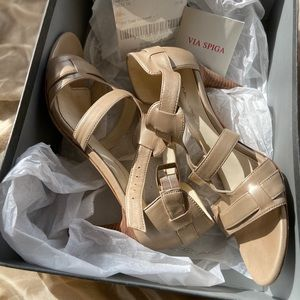 Via Spiga Hilda Tan Heels